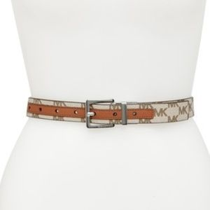 MICHAEL Michael Kors Reversible Logo Leather Belt
